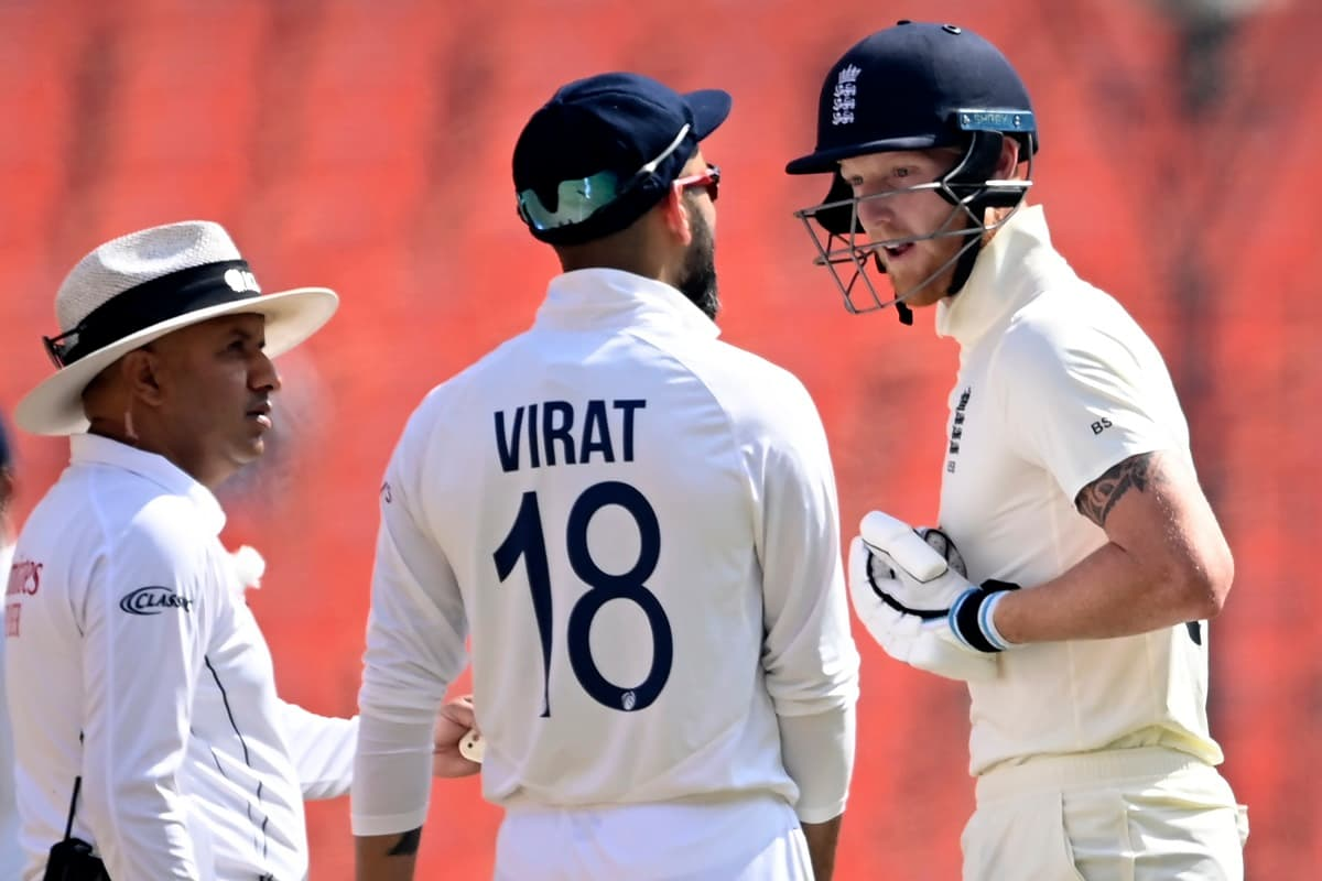 Cricket Image for Video: Heated Exchange Between Virat Kohli And Ben Stokes During 4th Test