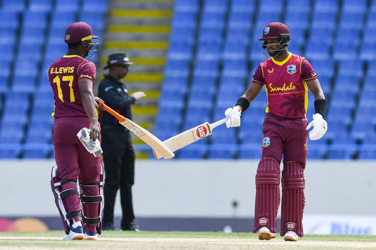Cricket Image for Hope Century Leads Windies To Victory In 1st ODI As Gunathilaka Out Obstructing Fi