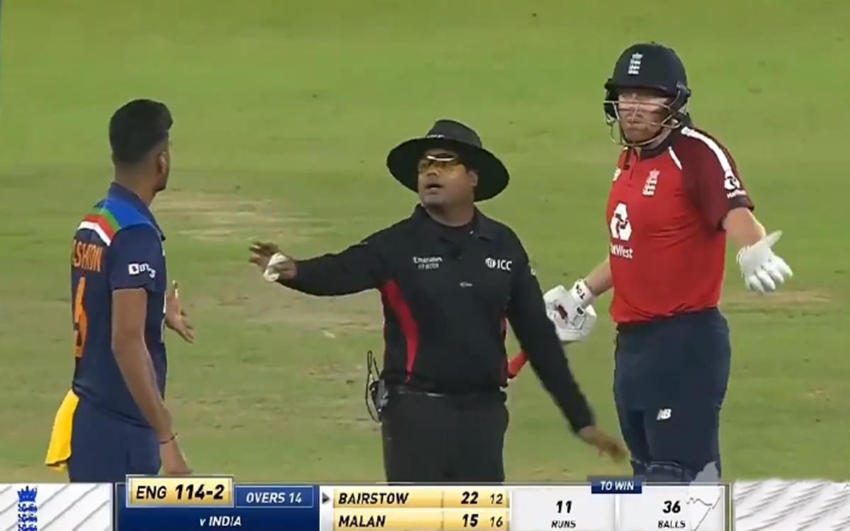 Cricket Image for Washington Sundar Heated Argument With Jonny Bairstow