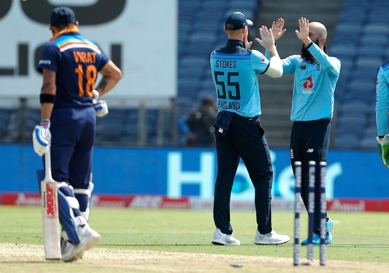 Cricket Image for Indian Cricket Team All Out At 329 Runs Against England In Second One Day Match