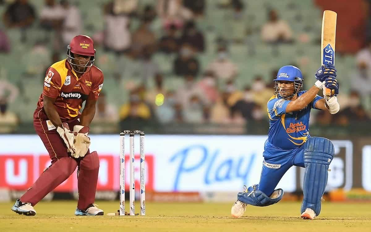 India set a mammoth target of 219 runs in front of West Indies at Road Safety world Series