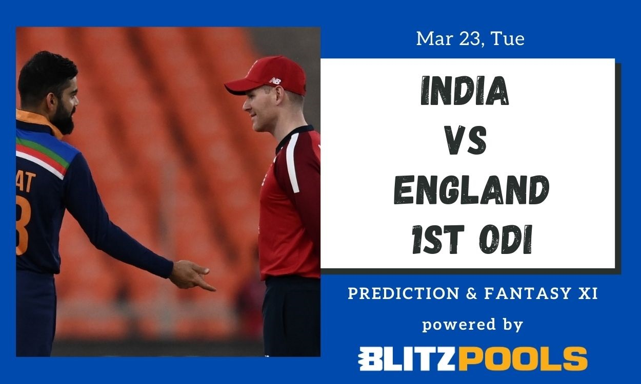 Cricket Image for India vs England, 1st ODI – Blitzpools Prediction, Fantasy XI Tips & Probable XI