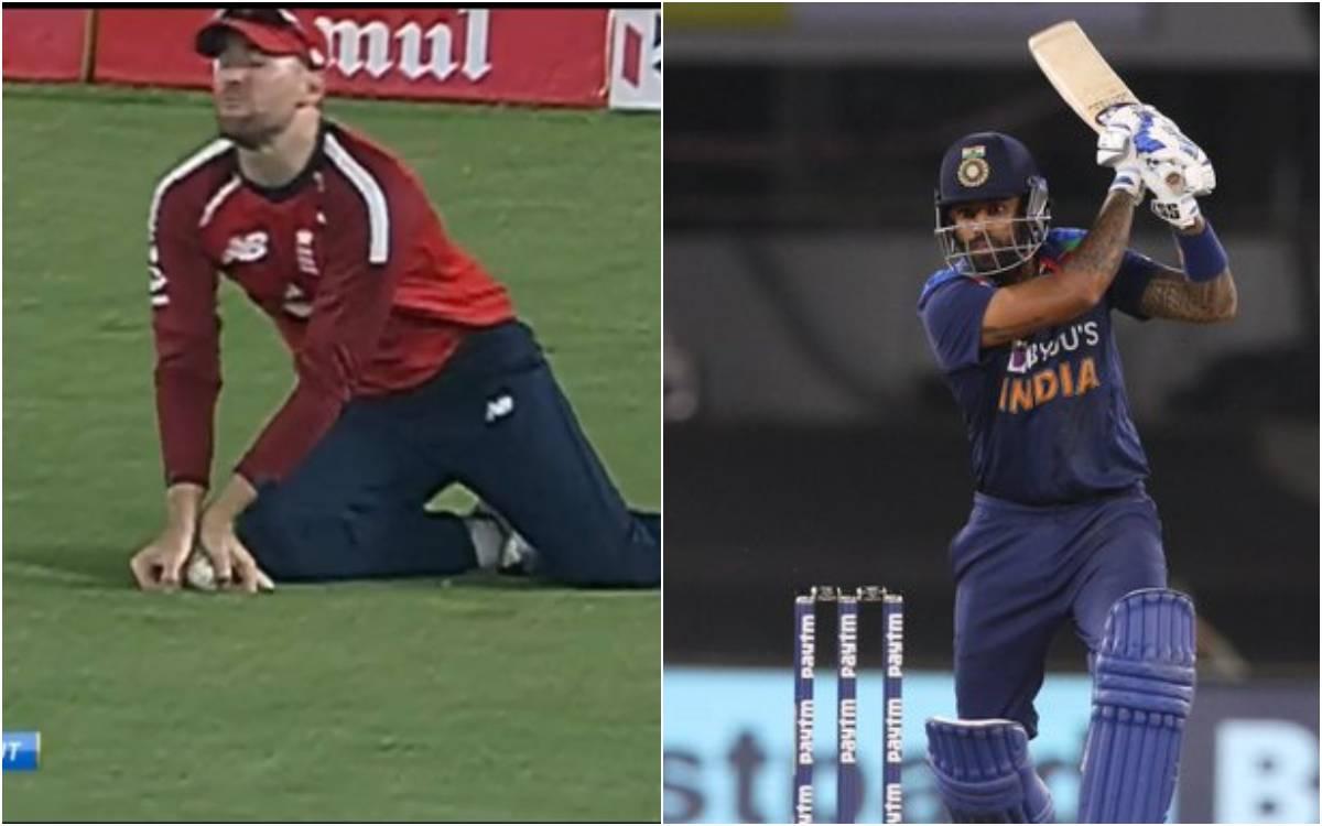 Cricket Image for VIDEO : सूर्यकुमार यादव के साथ हुआ धोखा, अंपायर की गलती से धुआंधार पारी का हुआ दुख