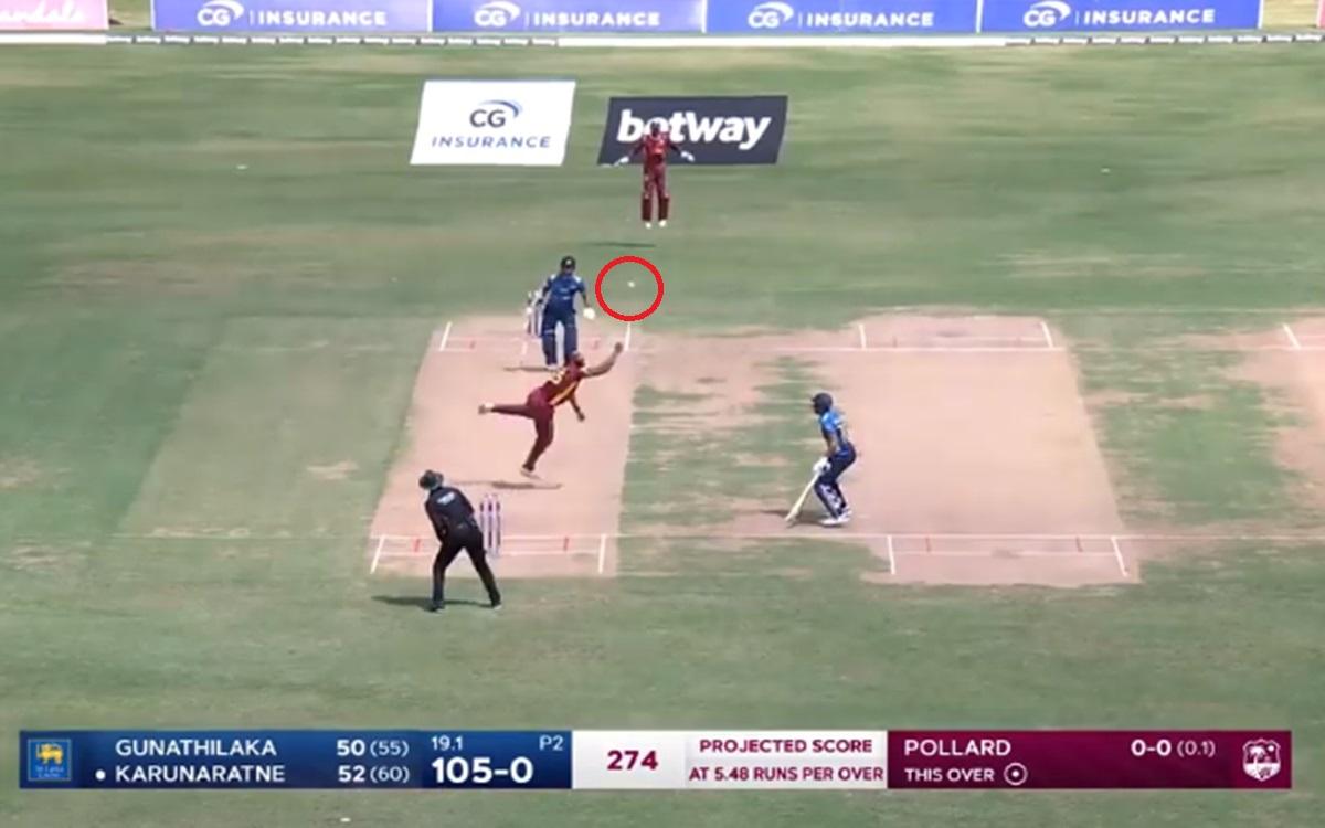 Cricket Image for West Indies Vs Sri Lanka Kieron Pollard Brilliant Catch Watch Video