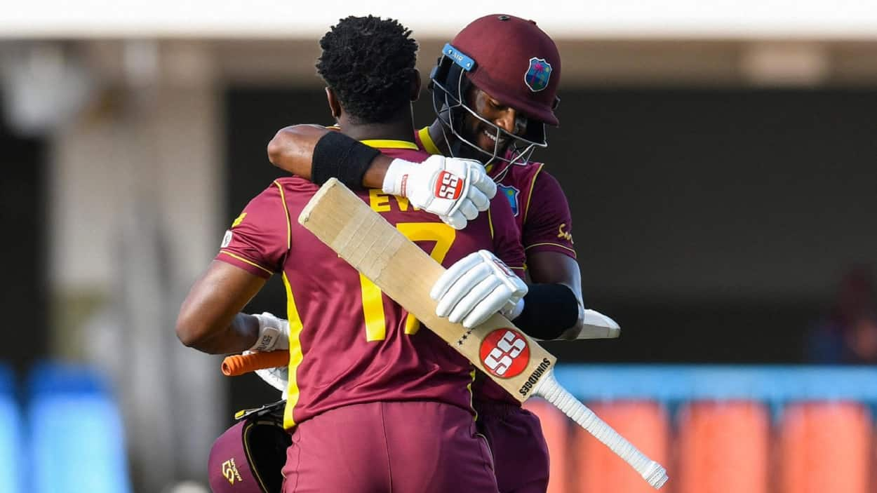 Cricket Image for Lewis Hits Century As West Indies Make Drama Out Of Run Chase In Sri Lanka Win