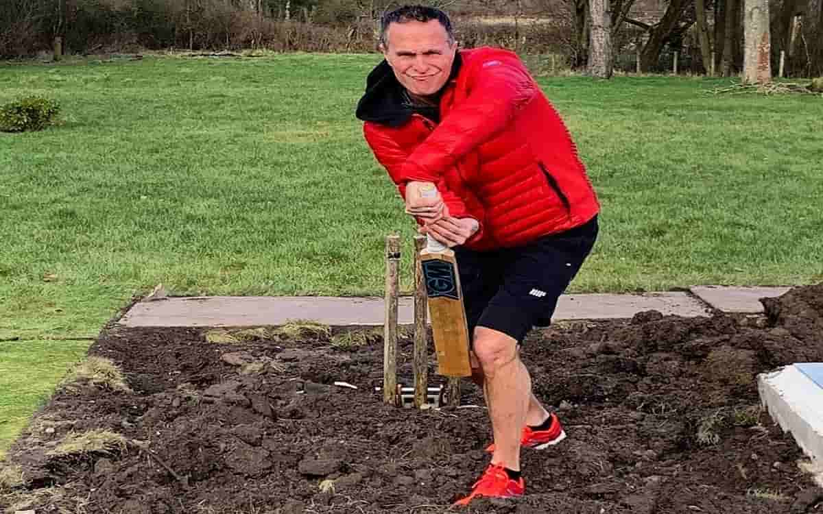Michael Vaughan mocked Motera pitch by sharing photo on twitter
