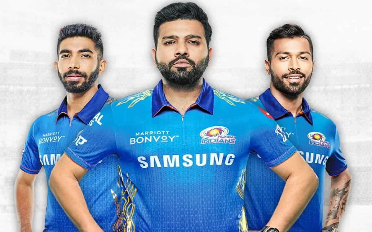 Cricket Image for Mumbai Indians Unveil New Jersey For Indian Premier League 2021