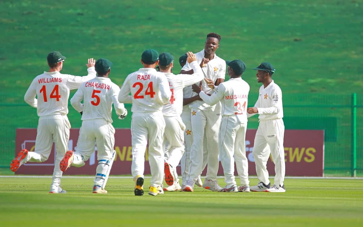 Cricket Image for Zimbabwe Bowled Afghanistan For 131 Runs On The First Day Of The Test Match
