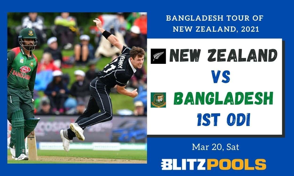 Cricket Image for New Zealand vs Bangladesh, 1st ODI – Blitzpools Prediction, Fantasy XI Tips & Prob