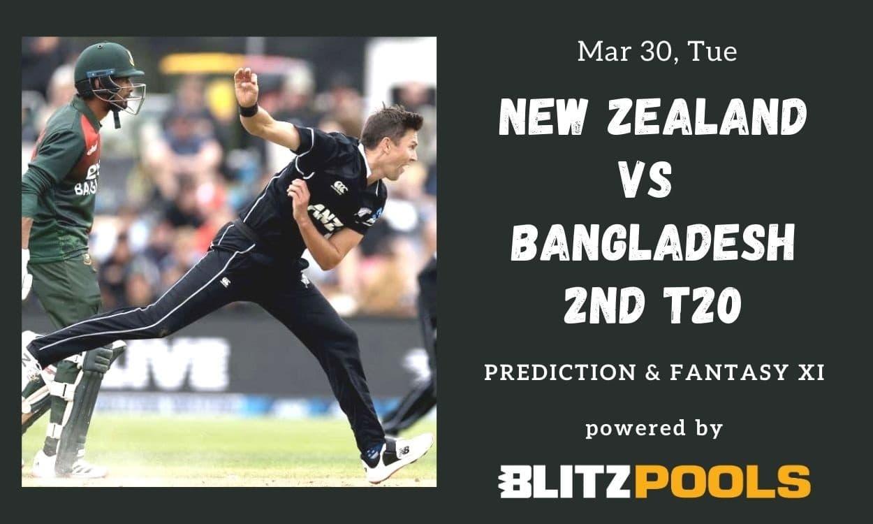 Cricket Image for New Zealand vs Bangladesh, 2nd T20I – Blitzpools Prediction, Fantasy XI Tips & Pro