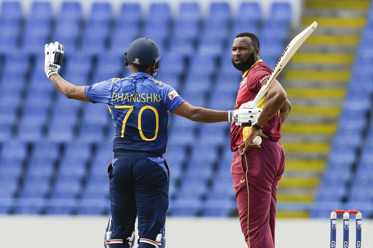 Cricket Image for Video: Danushka Gunathilaka Given Out 'Obstructing The Field' In 1st ODI