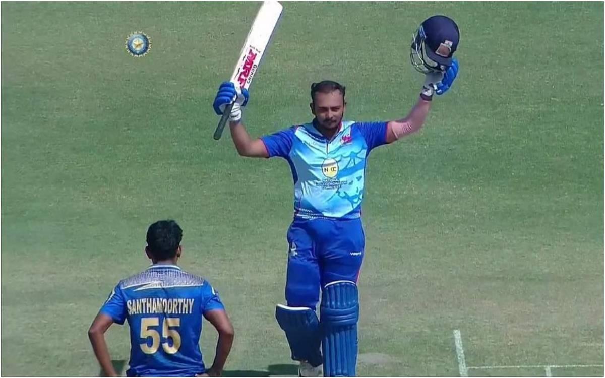 Cricket Image for विजय हज़ारे ट्रॉफी में आया पृथ्वी शॉ का तूफान, गेंदबाज़ों की धज्जियां उड़ाते हुए