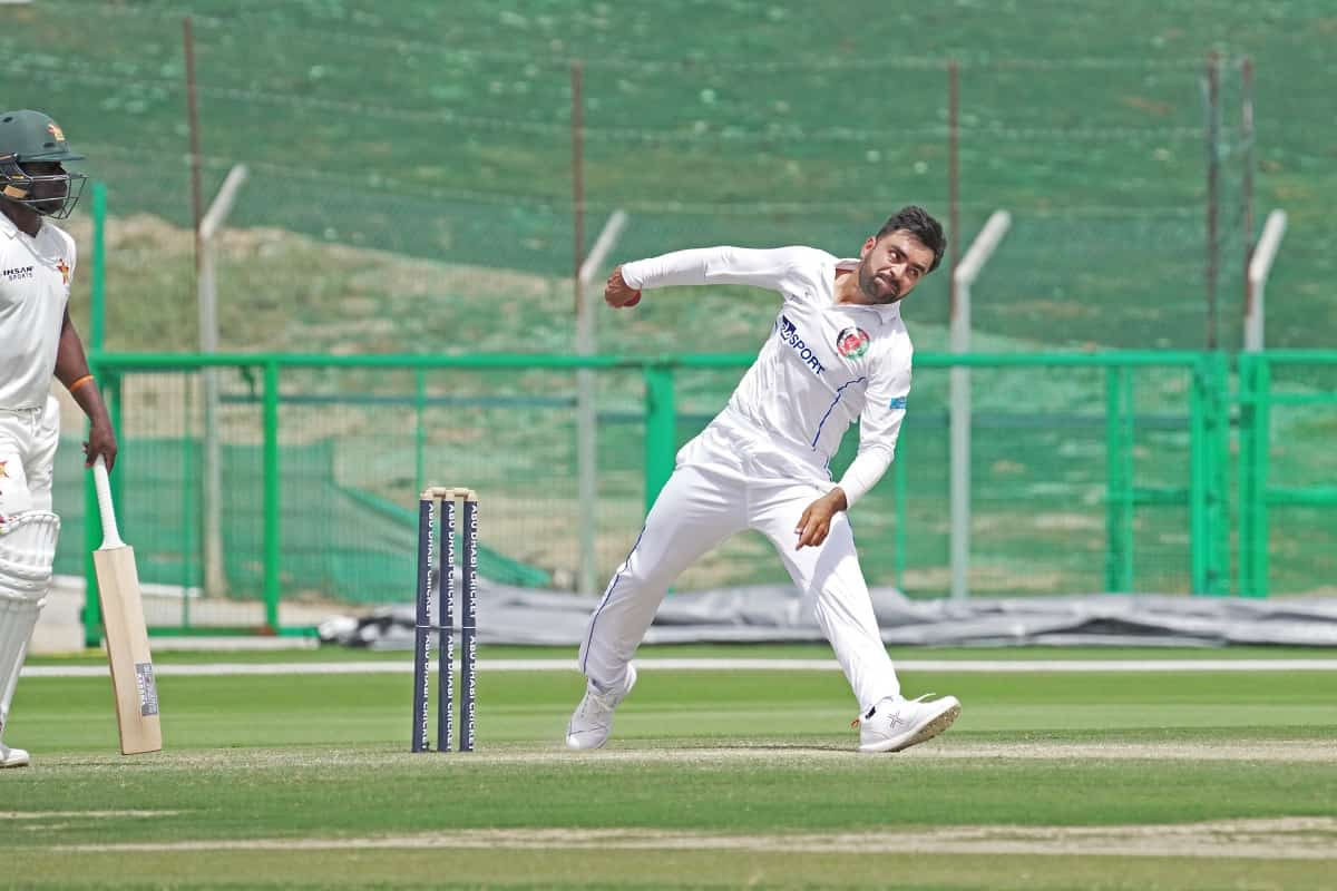 Cricket Image for Rashid Khan Takes 4 As Zimbabwe Battle To Avoid Follow-On In 2nd Test