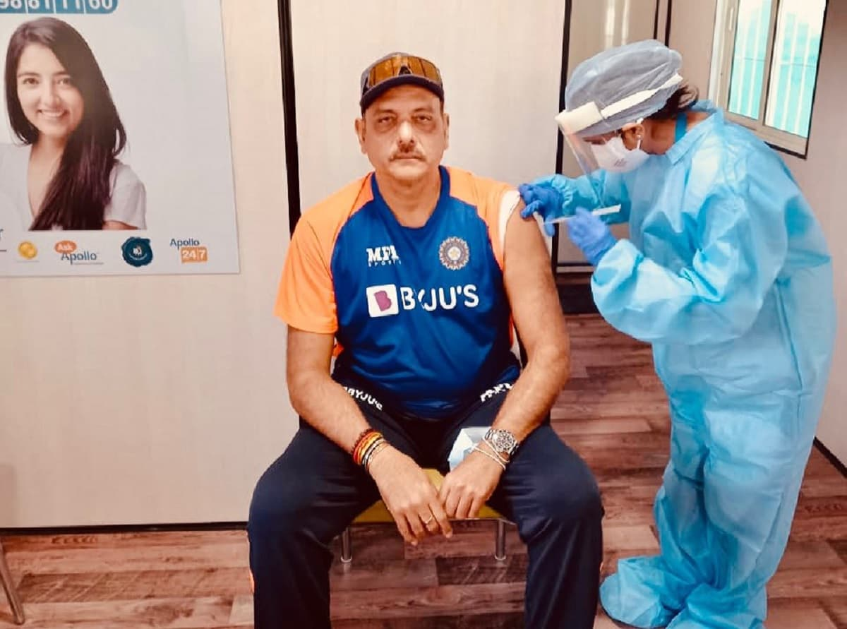 Cricket Image for Ravi Shastri Recieves First Dose Of Covid Vaccine