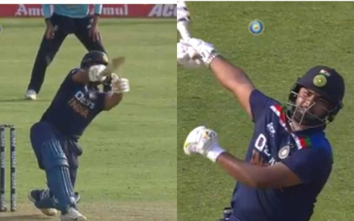Cricket Image for VIDEO :सिर्फ एक हाथ से लगाए दो ताबड़तोड़ छक्के, ऋषभ पंत की ताकत देखकर रह जाएंगे दं