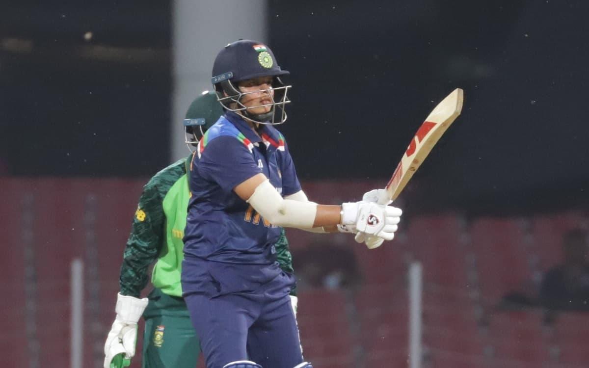 Cricket Image for : शेफाली वर्मा ने खेली 30 गेंदों में 60 रनों की तूफानी पारी, भारत ने सिर