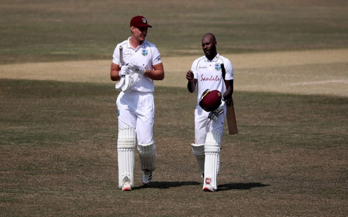 Cricket Image for WI vs SL: Sri Lanka Wobble As Gabriel, Jermaine Blackwood Claim Wickets