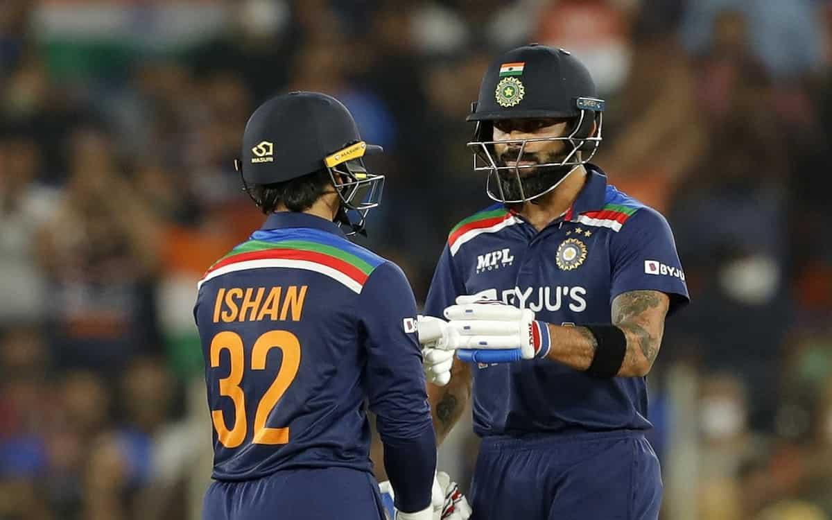 Cricket Image for Virat Kohli And Ishan Kishan Half Century Innings Helped India To Win