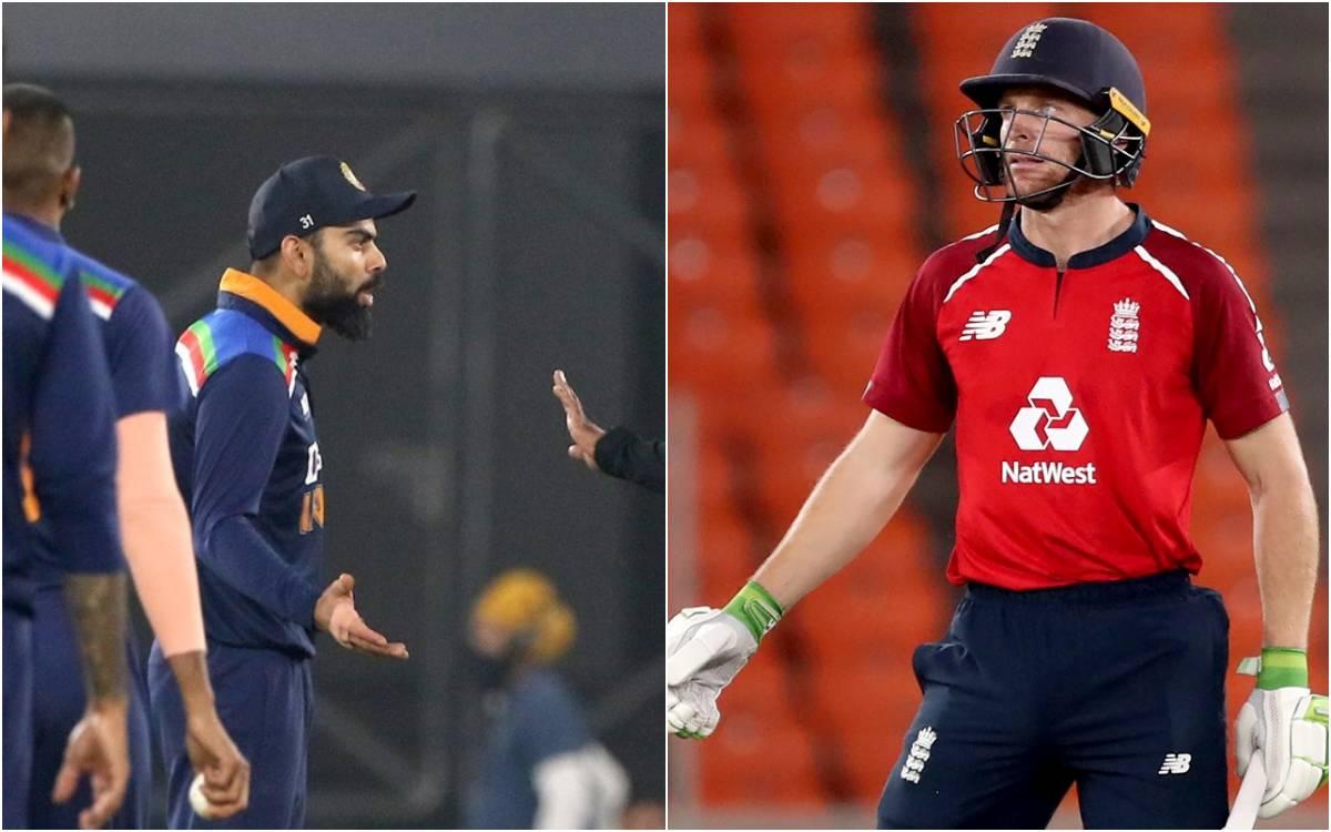 Cricket Image for VIDEO : आउट होने के बाद विराट कोहली से भिड़ गए जोस बटलर, तीखी नोकझोंक के बाद अंपाय