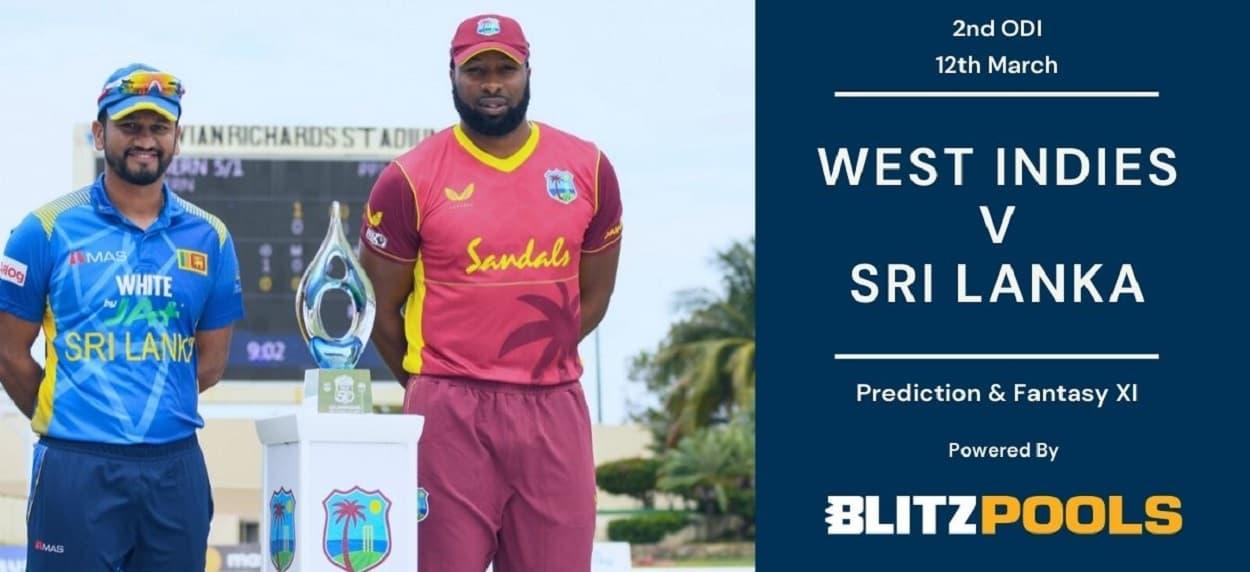 Cricket Image for West Indies vs Sri Lanka 2nd ODI Blitzpools Prediction, Fantasy XI Tips&Pitch Re