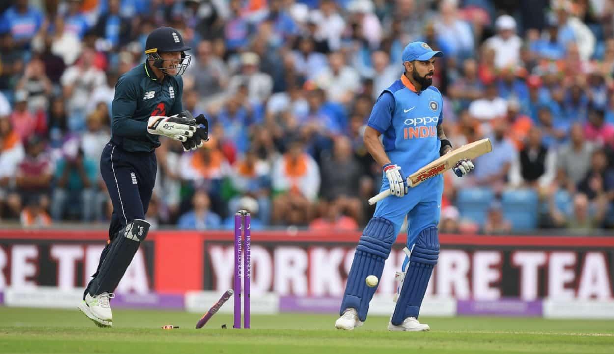 Cricket Image for India vs England: When Adil Rashid Got Virat Kohli's Eyes Wide Open, Watch Video