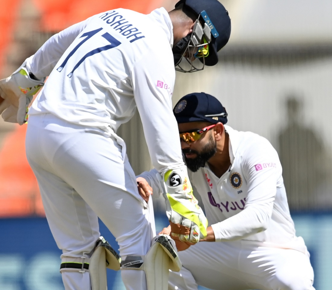Cricket Image for When The Bails Got Lost In Rishabh Pant's Gloves