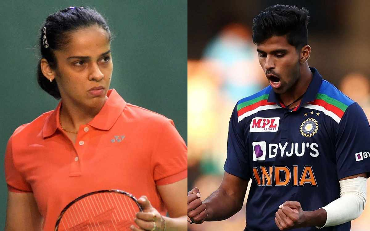 Cricket Image for Badminton Star Saina Nehwal Tweeted In Praise Of The Washington Sundar