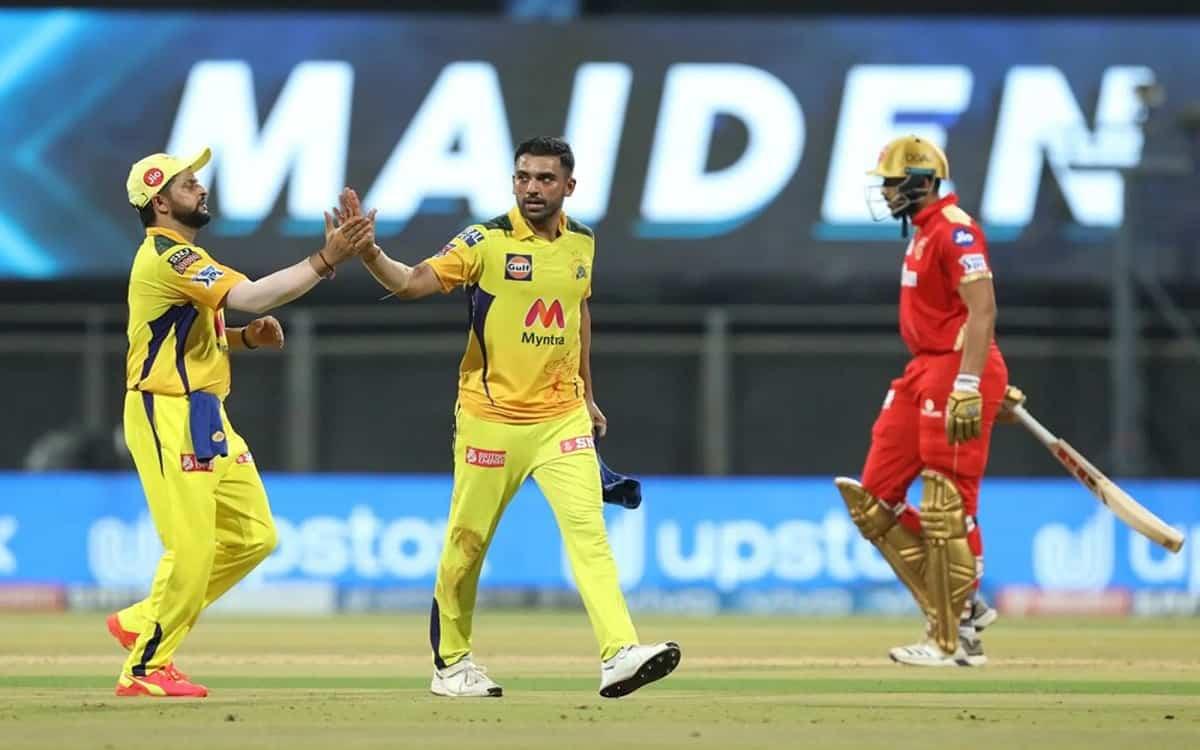 Cricket Image for IPL 2021: दीपक चाहर के 'चौके' से चेन्नई ने पंजाब किंग्स को 106/8 पर रोका, शाहरूख ख
