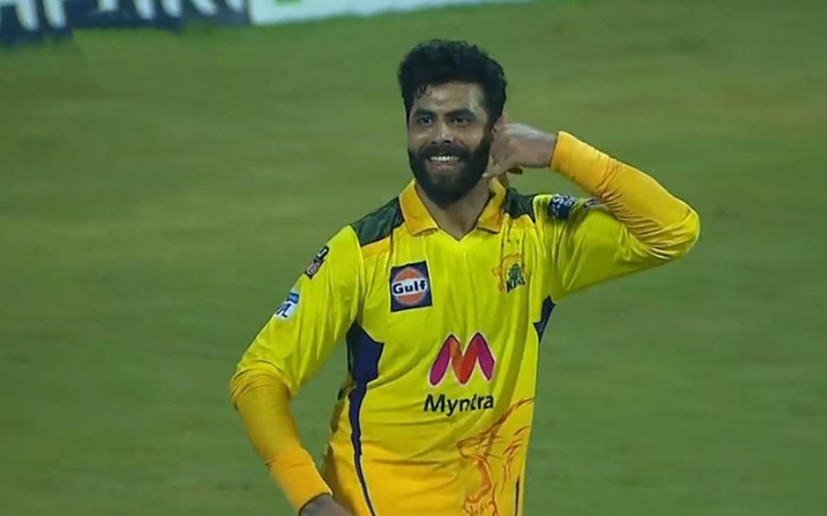 Cricket Image for VIDEO: जडेजा ने कैच लेने के बाद लगाया फोन, नए अंदाज में मनाया जश्न