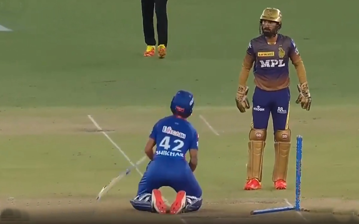 Cricket Image for Dc Vs Kkk Funny Moments Between Shikhar Dhawan And Dinesh Karthik