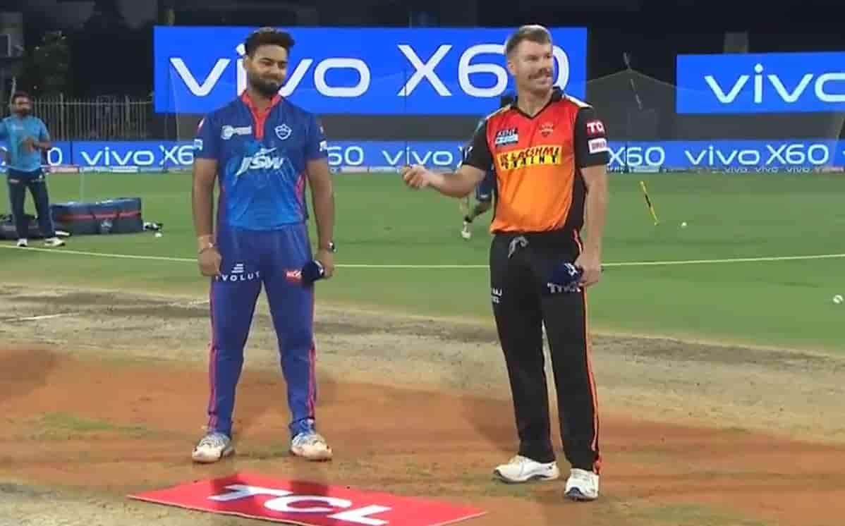 Delhi Capitals opt to bat first against Sunrisers Hyderabad in IPL 2021