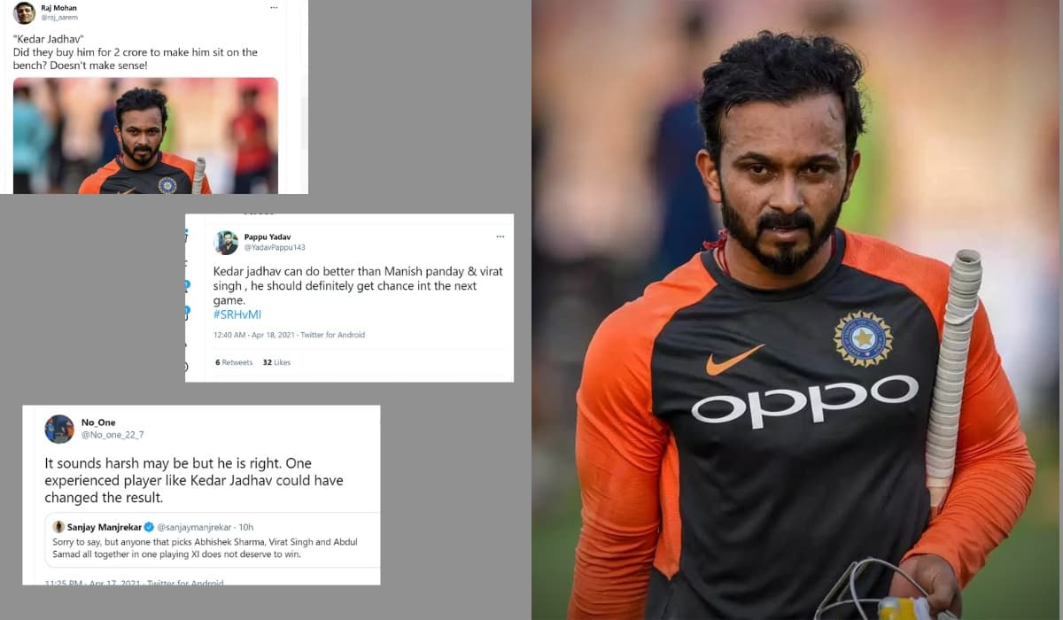 Fans demand to bring kedar jadhav in the playing XI after a dramatic defeat against Mumbai Indians