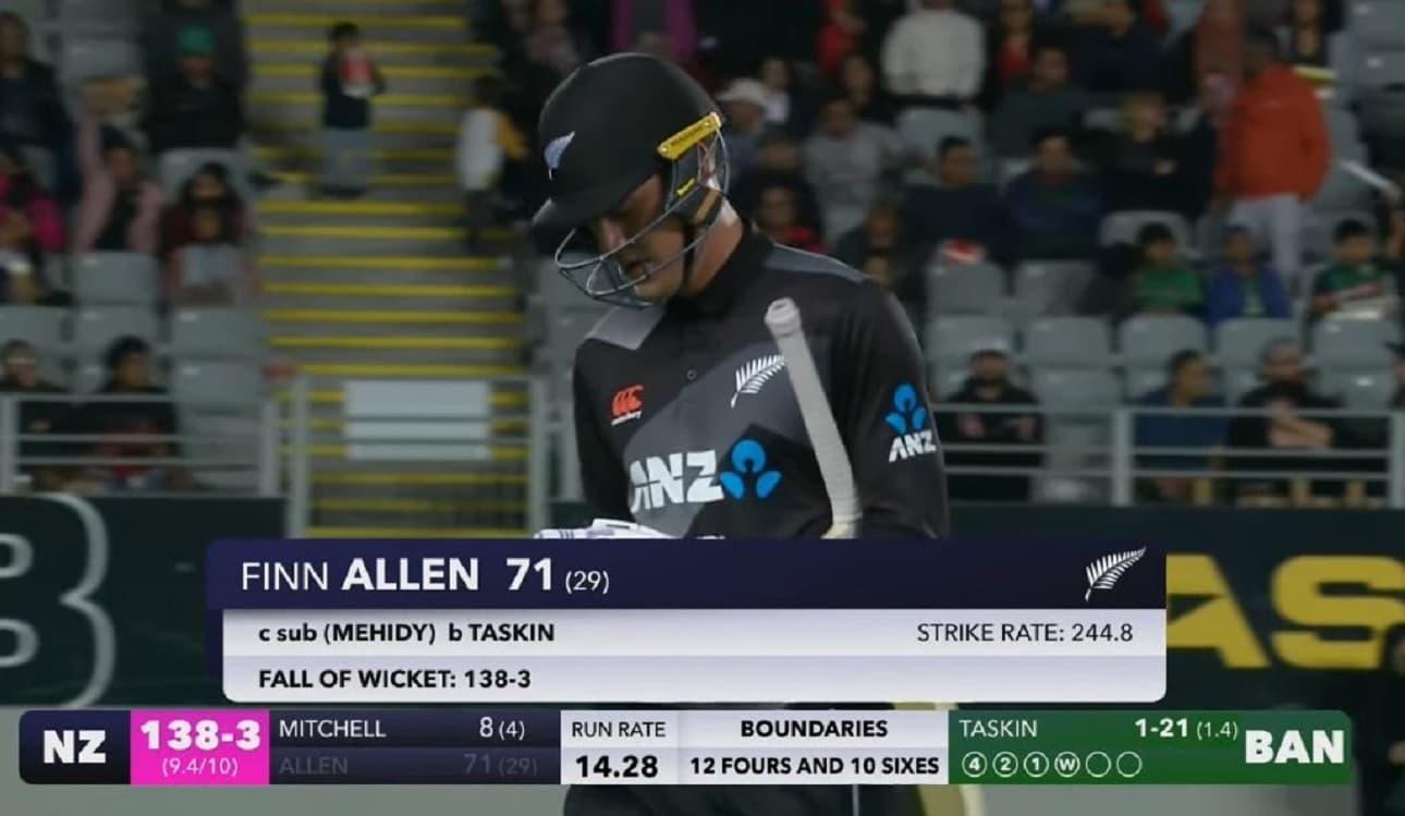 Cricket Image for फिन एलेन ने 29 गेंदों में 71 रनों तूफानी पारी से रचा इतिहास,T20 क्रिकेट में 11