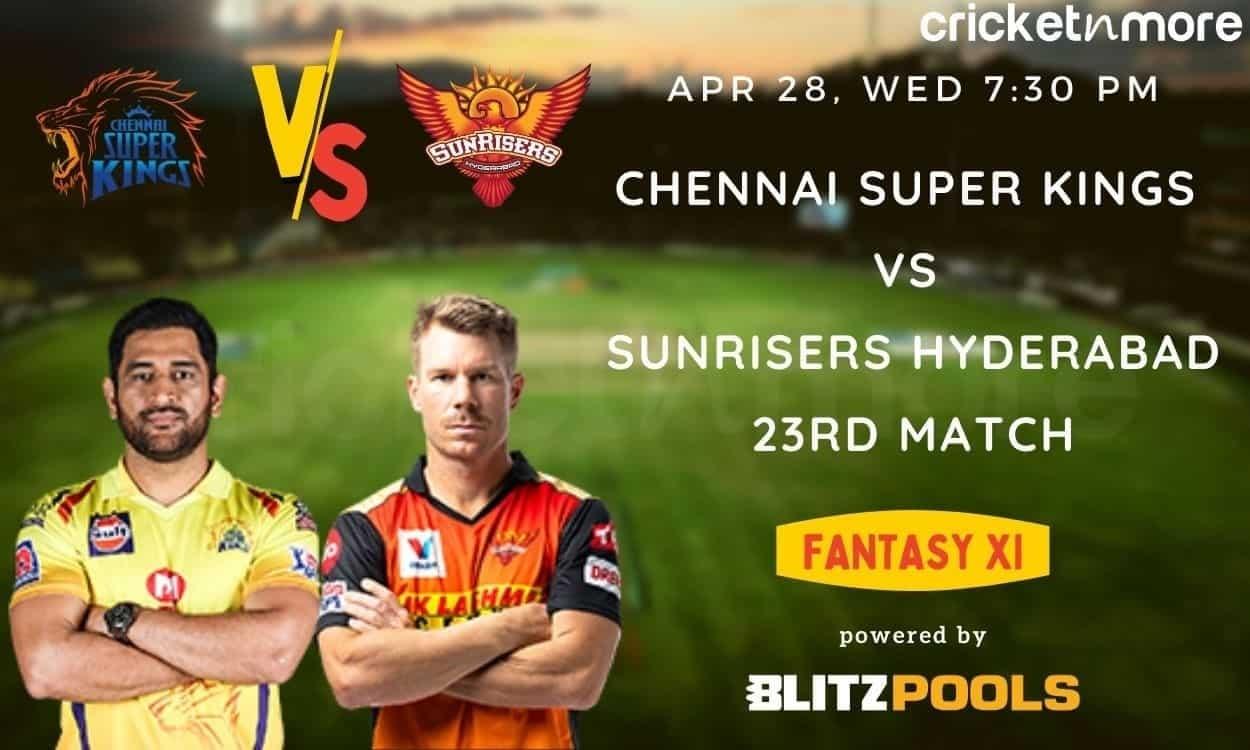 IPL 2021, CSK vs SRH – Blitzpools Fantasy XI Tips, Prediction & Pitch Report