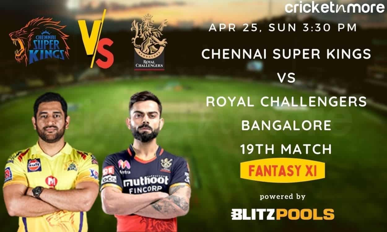 IPL 2021, Chennai Super Kings vs Royal Challengers Bangalore – Blitzpools Fantasy XI Tips, Predictio