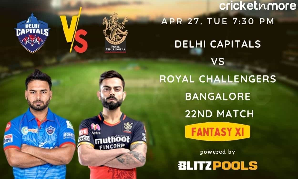 IPL 2021, DC v RCB– Blitzpools Fantasy XI Tips, Prediction & Pitch Report