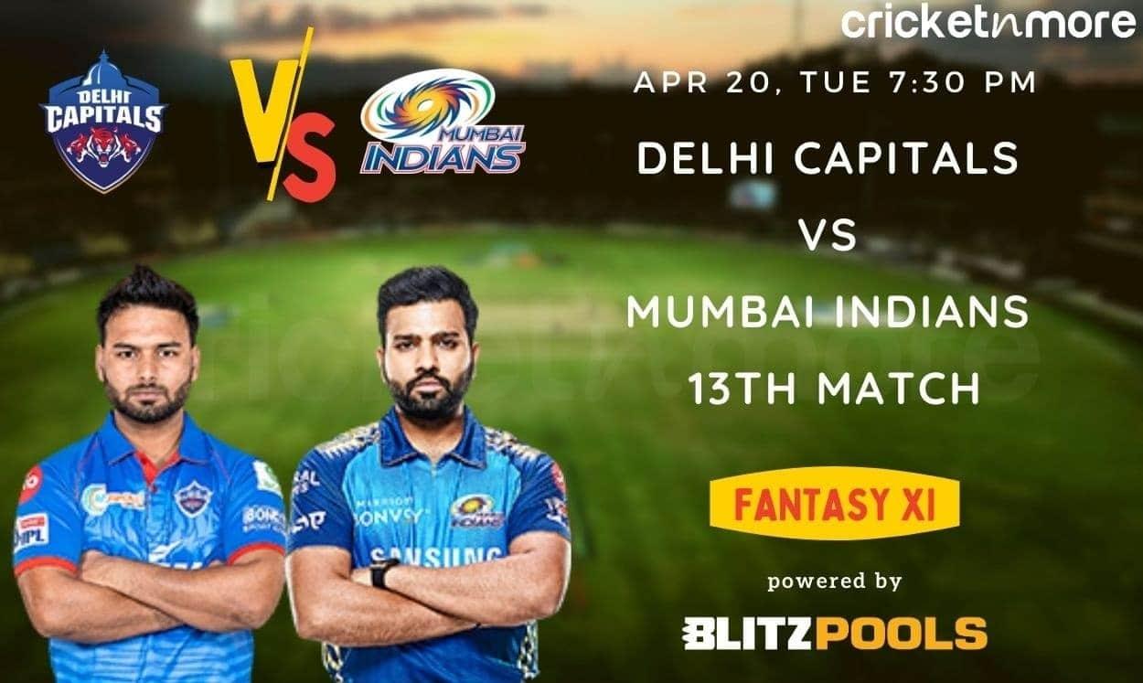 IPL 2021, Delhi Capitals vs Mumbai Indians, 13th Match – Blitzpools Fantasy XI Tips