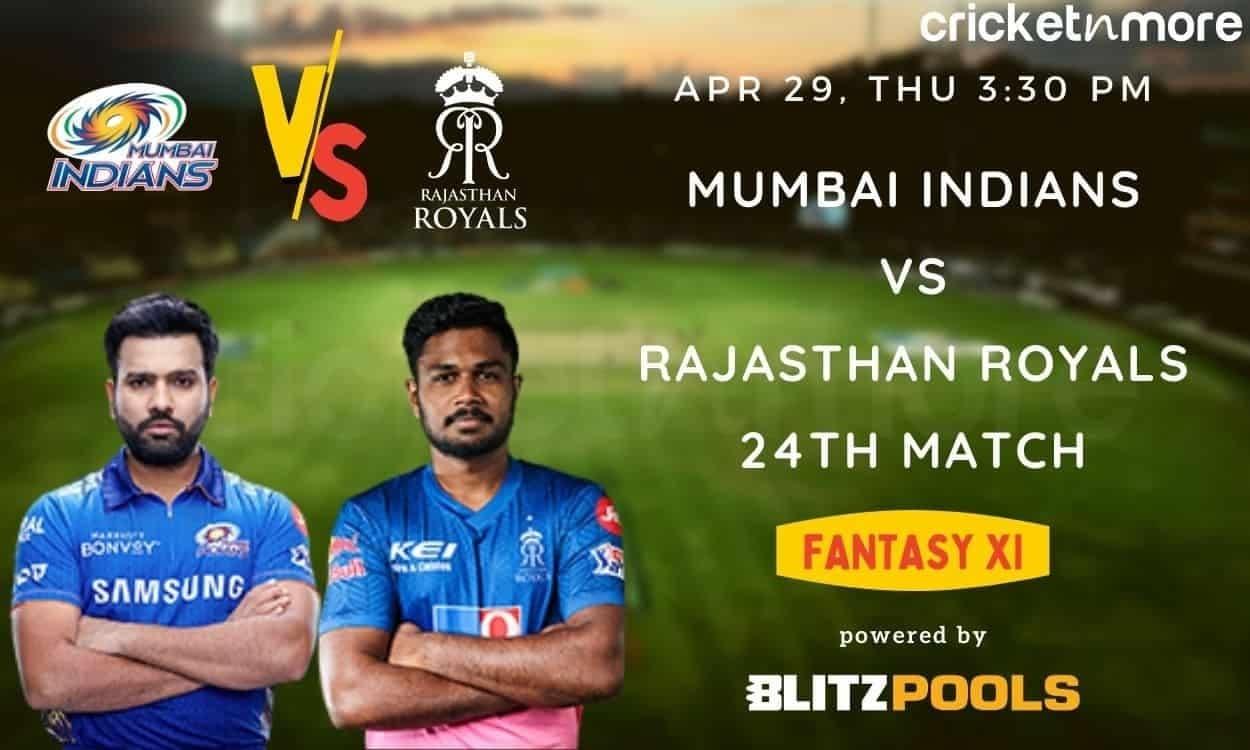IPL 2021, MI vs RR – Blitzpools Fantasy XI Tips, Prediction & Pitch Report