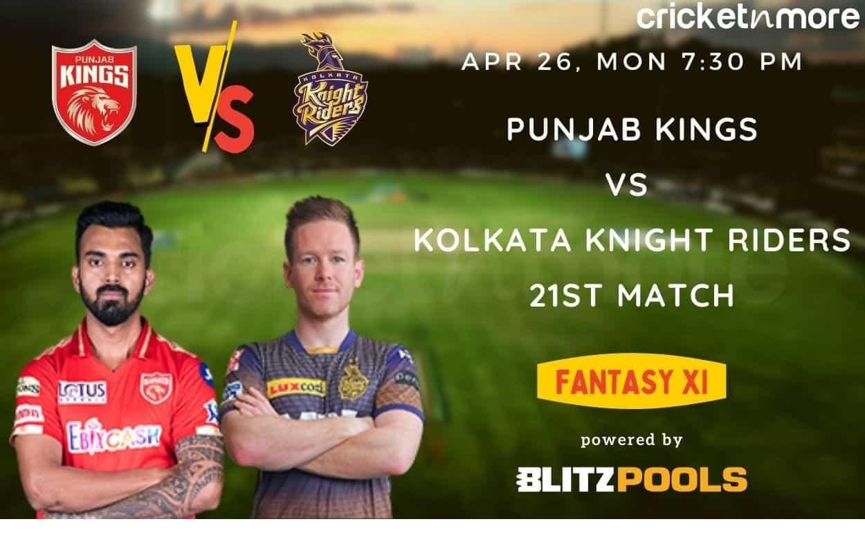 IPL 2021, PBKS vs KKR – Blitzpools Fantasy XI Tips, Prediction & Pitch Report