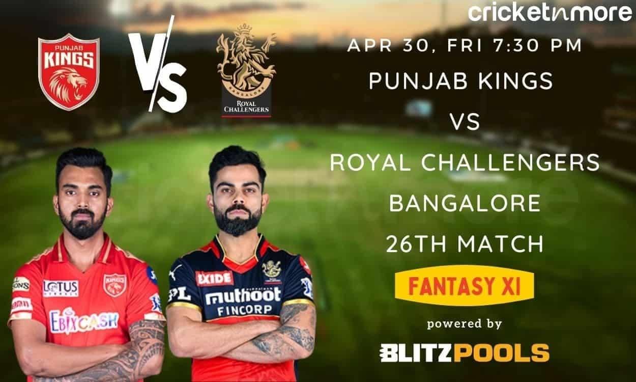 IPL 2021, PBKS vs RCB – Blitzpools Fantasy XI Tips, Prediction & Pitch Report
