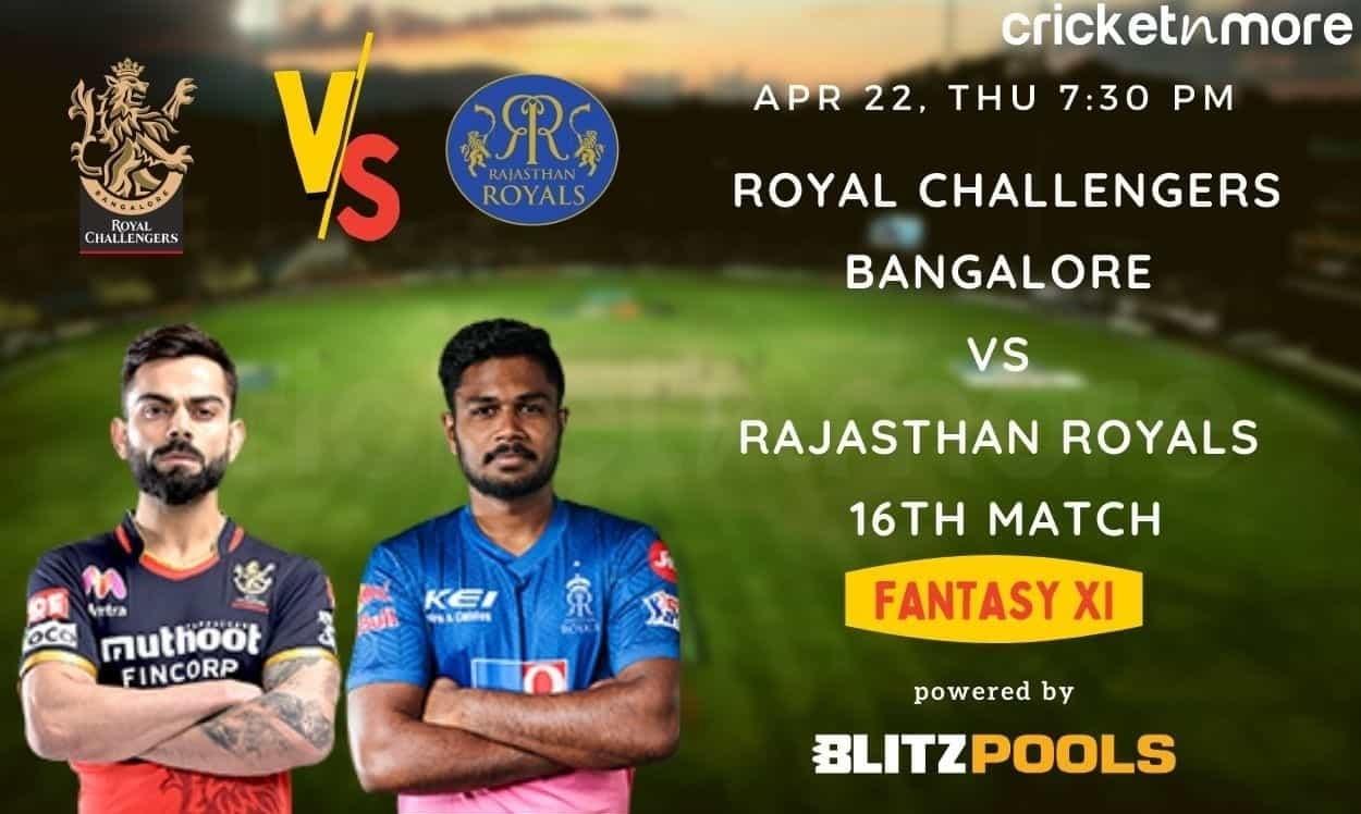 IPL 2021, Royal Challengers Bangalore vs Rajasthan Royals, 16th Match – Blitzpools Fantasy XI Tips