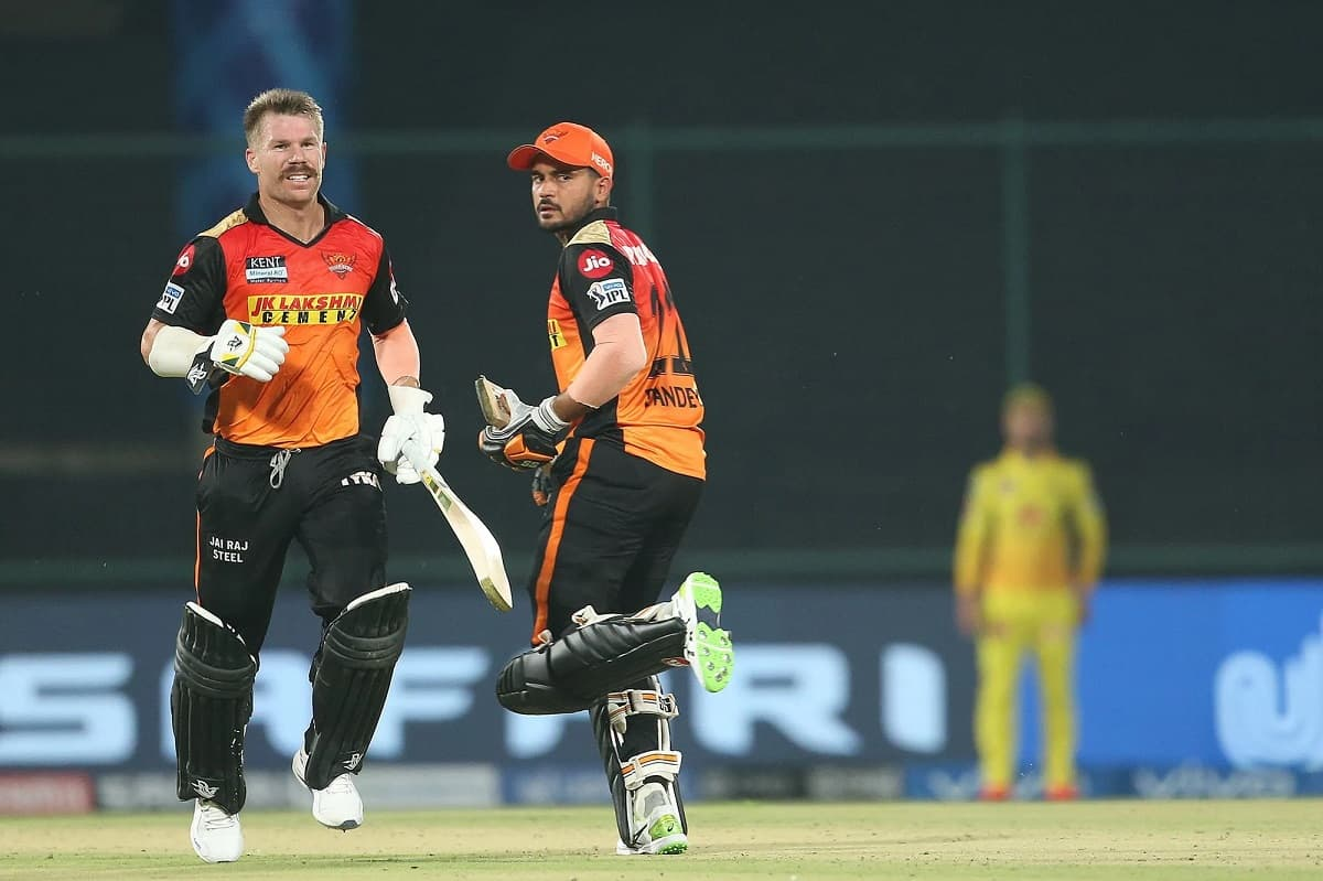 IPL 2021 - SRH set a target of runs against Chennai Super Kings