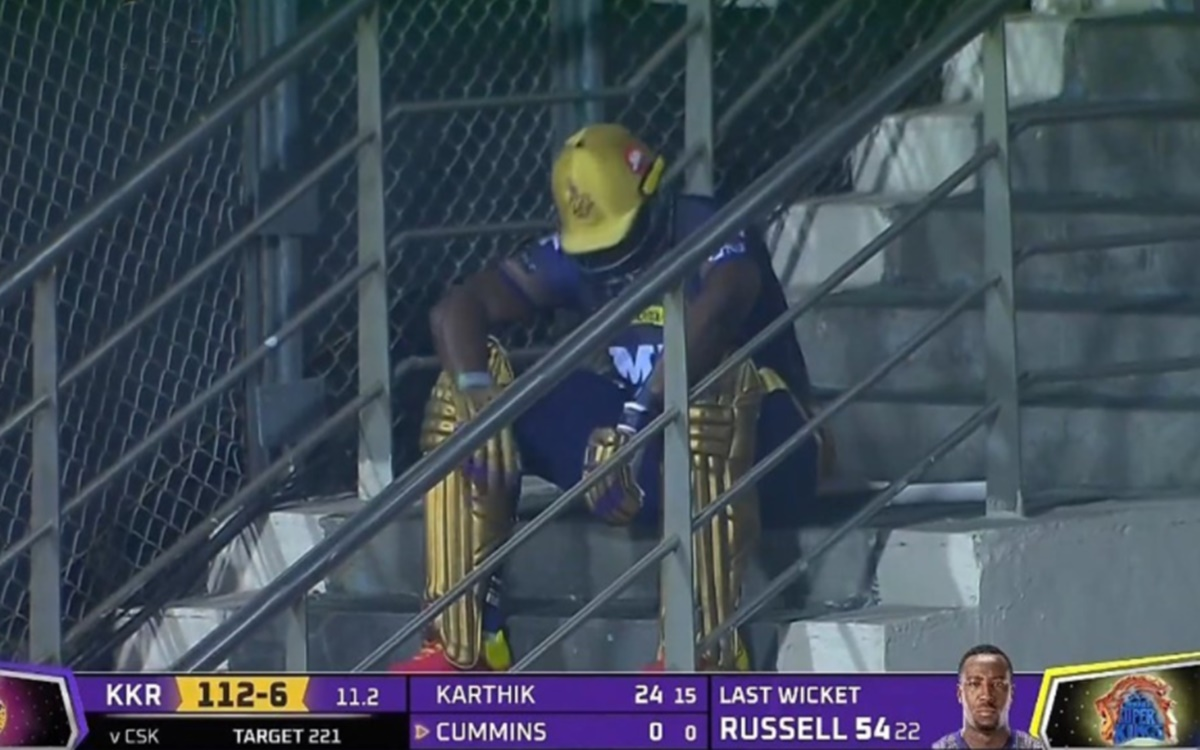 Cricket Image for Ipl 2021 Andre Russell Talks About Why He Sat On Staircase