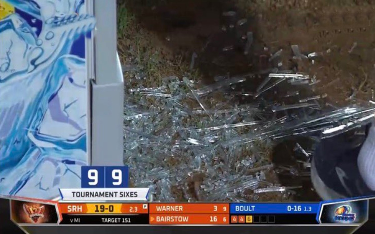 Cricket Image for Ipl 2021 Jonny Bairstow Hits 83m Six On Boult And Cracks Fridge Glass Watch Video
