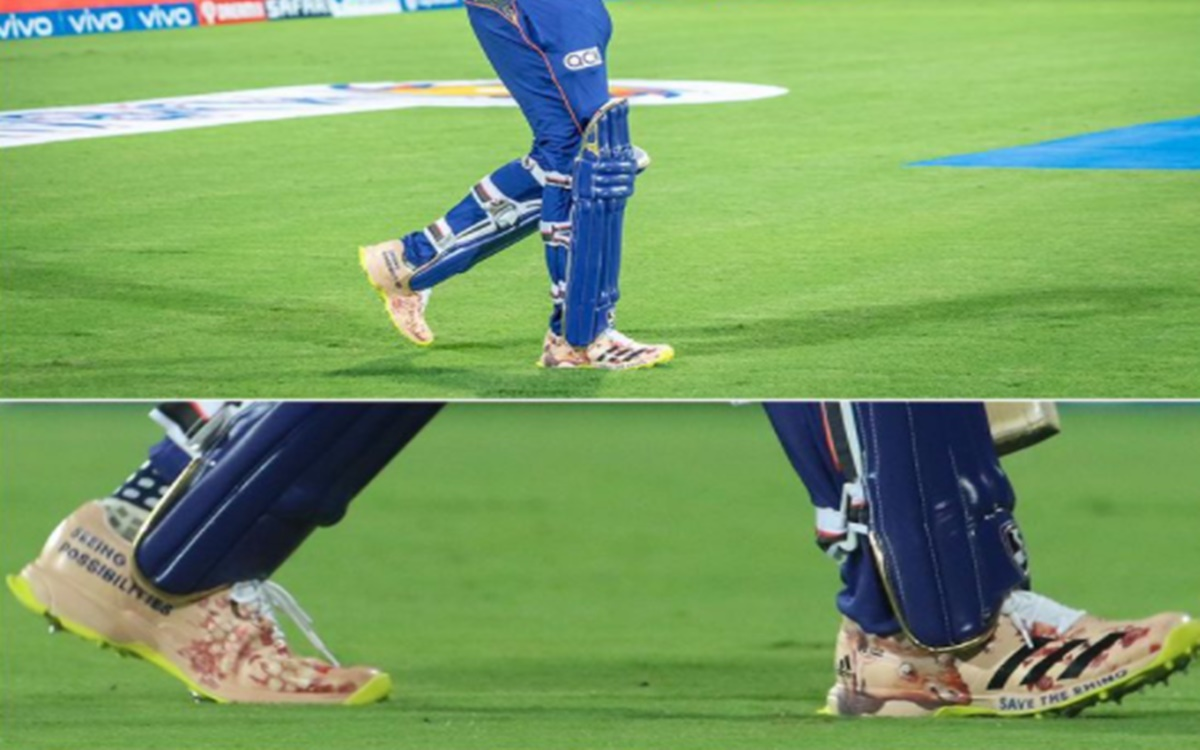 Cricket Image for Rohit Sharma Shoe During The First Match Against Rcb