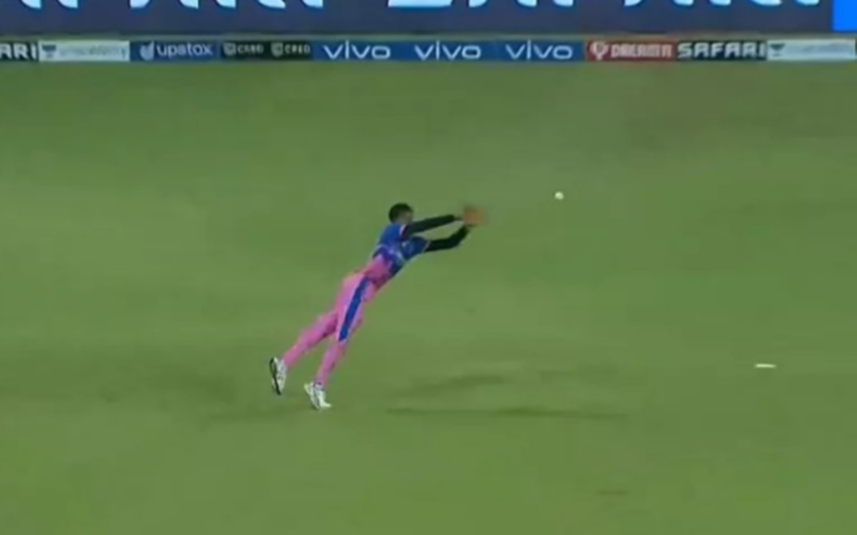 Cricket Image for Ipl 2021 Sensational Catch By Rajasthan Royals Player Chetan Sakariya