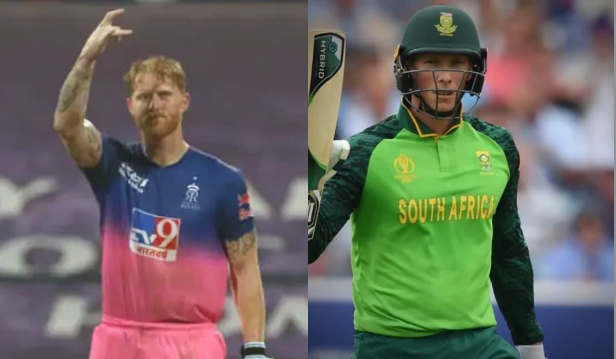 IPL 2021 : Van Der Dussen signed as replacement of Ben Stokes in Rajasthan Royals