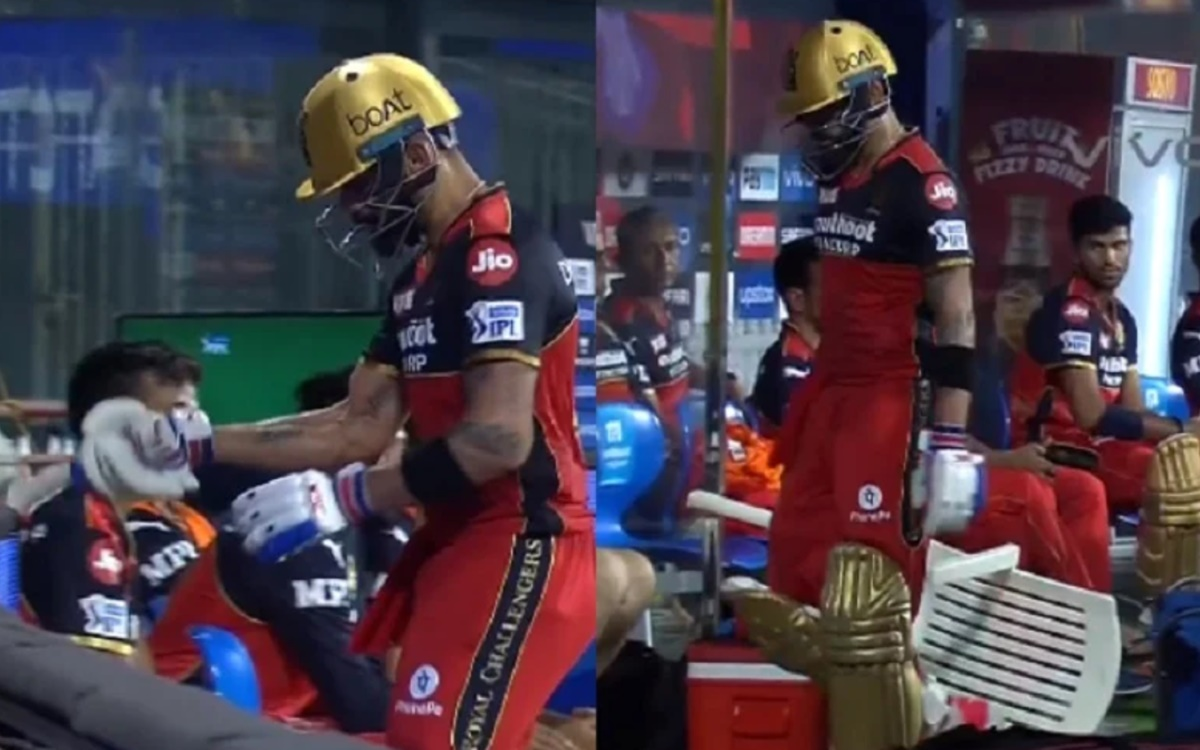 Cricket Image for VIDEO: विराट कोहली हुए आग बबूला, आउट होने के बाद कुर्सी पर निकाला अपना गु्स्सा