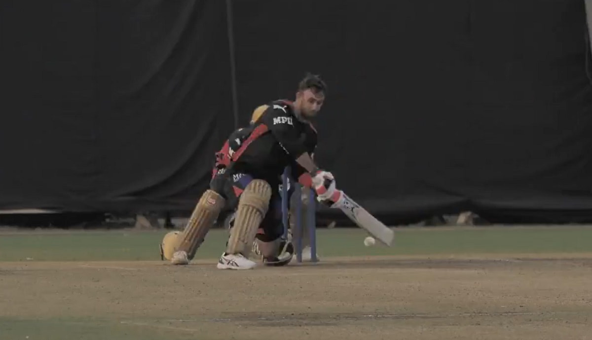 IPL 2021: Watch Glenn Maxwell sumptuous reverse sweeps on RCB training debut