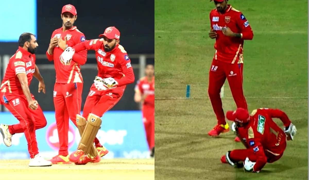 IPL 2021: Watch Video- Shami clings on to Stokes catch despite three-way mix-up, collision with keep